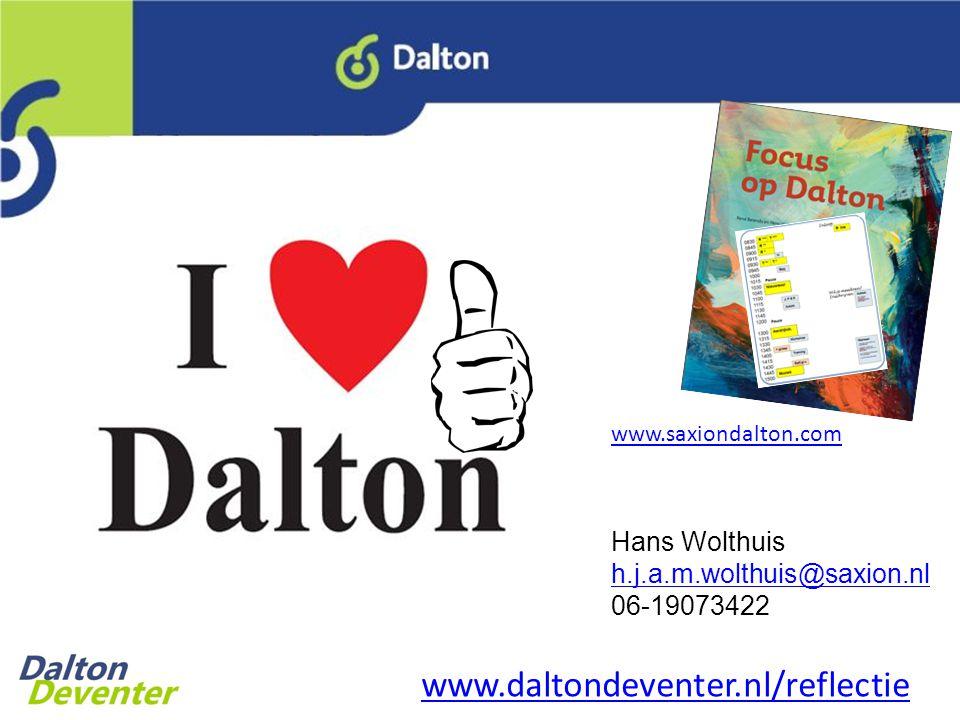 www.daltondeventer.nl/reflectie Hans Wolthuis