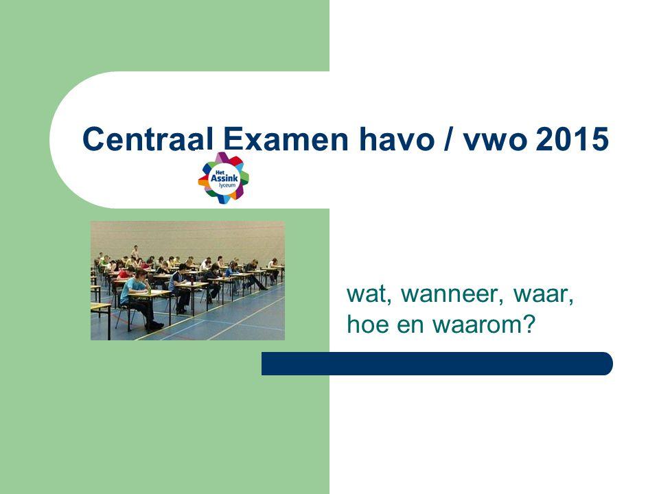 Centraal Examen havo / vwo 2015