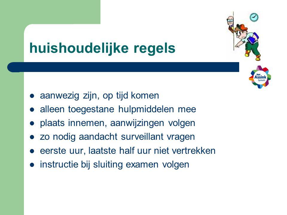 huishoudelijke regels
