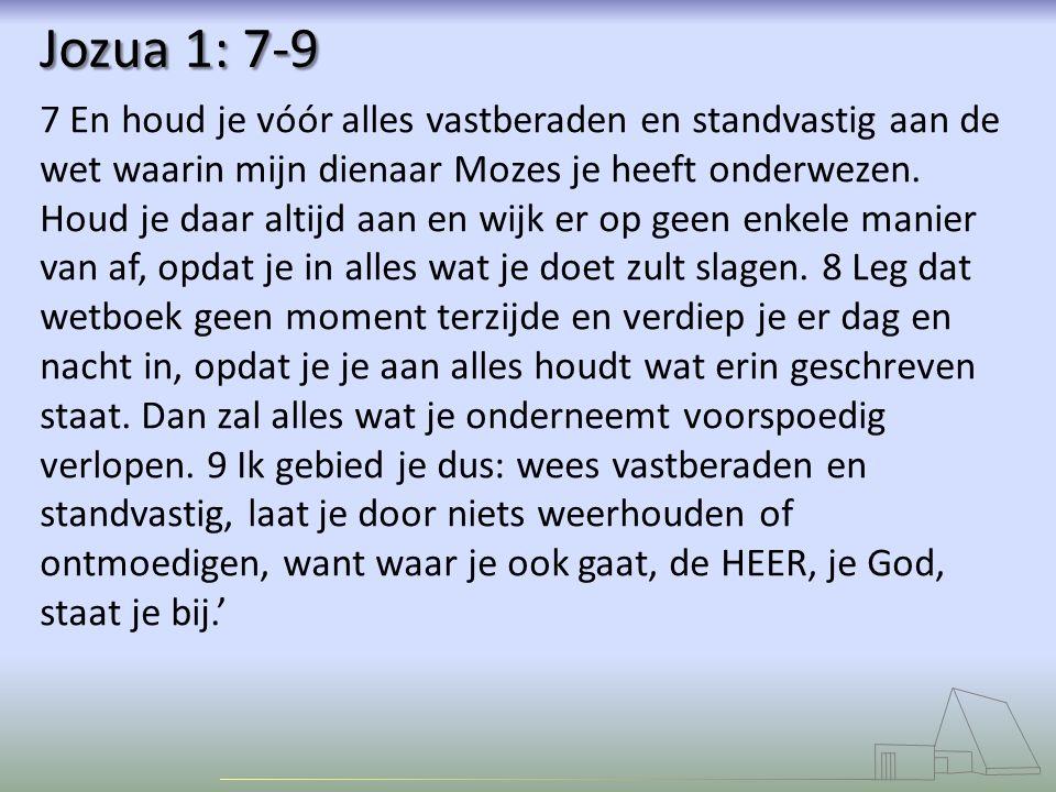 Jozua 1: 7-9