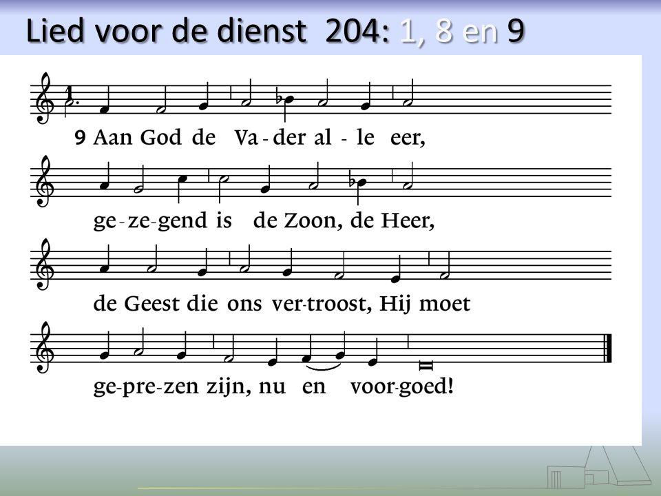 Lied voor de dienst 204: 1, 8 en 9