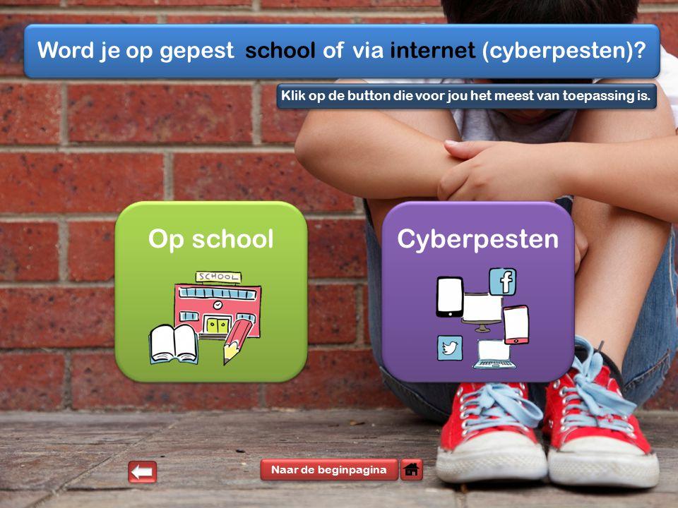Word je op gepest school of via internet (cyberpesten)