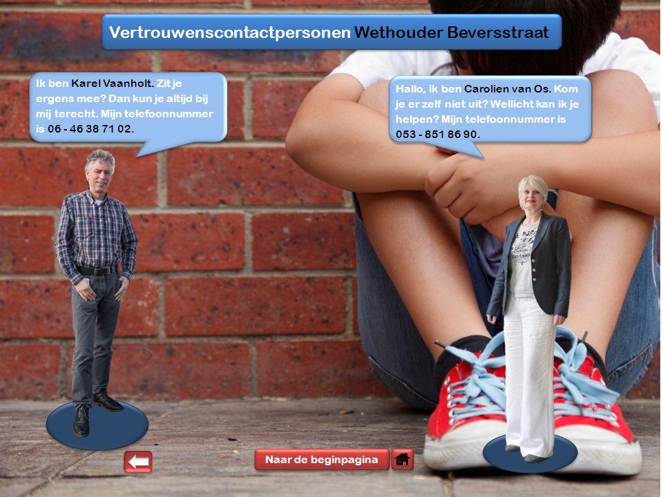 Vertrouwenscontactpersonen Wethouder Beversstraat