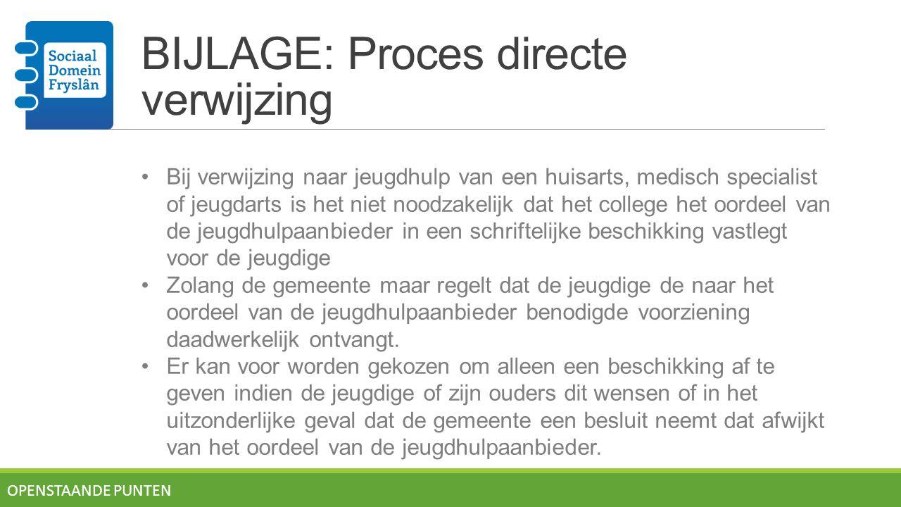 BIJLAGE: Proces directe verwijzing