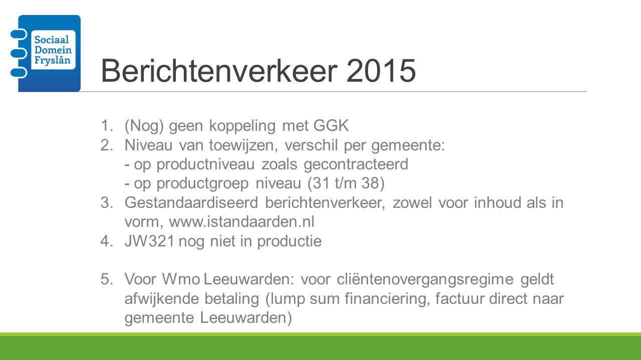Berichtenverkeer 2015 (Nog) geen koppeling met GGK
