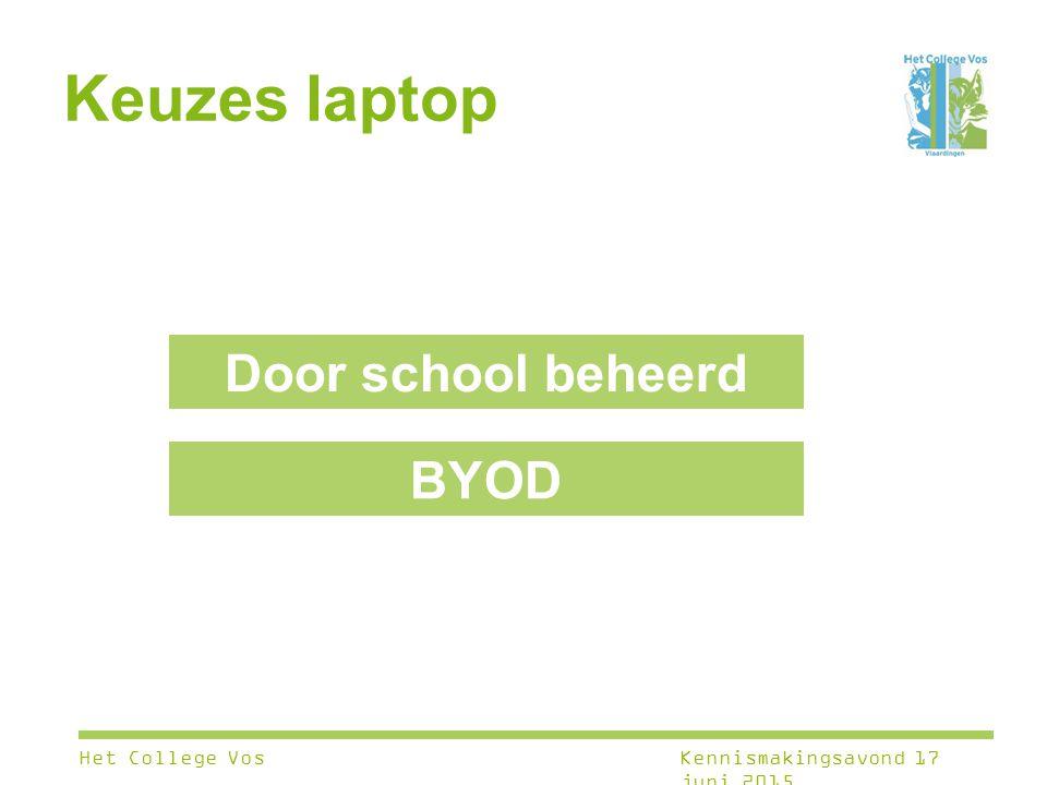 Keuzes laptop Door school beheerd BYOD Het College Vos