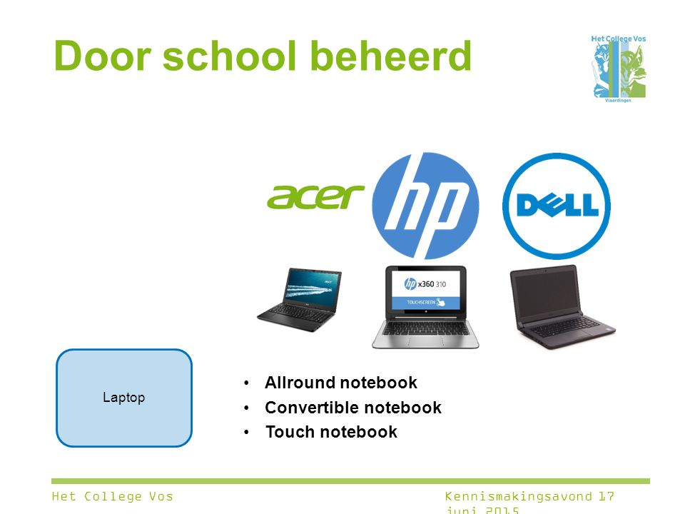 Door school beheerd Allround notebook Convertible notebook