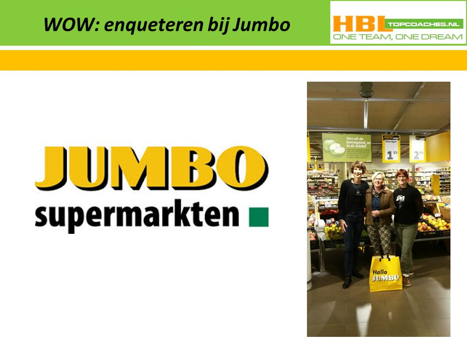 WOW: enqueteren bij Jumbo
