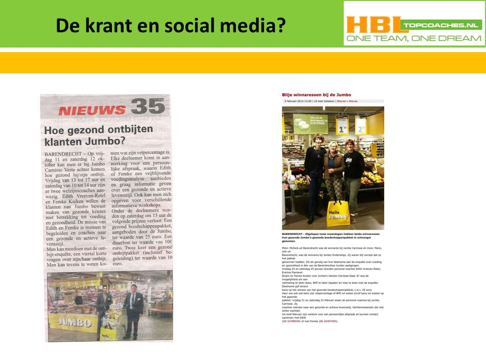 De krant en social media