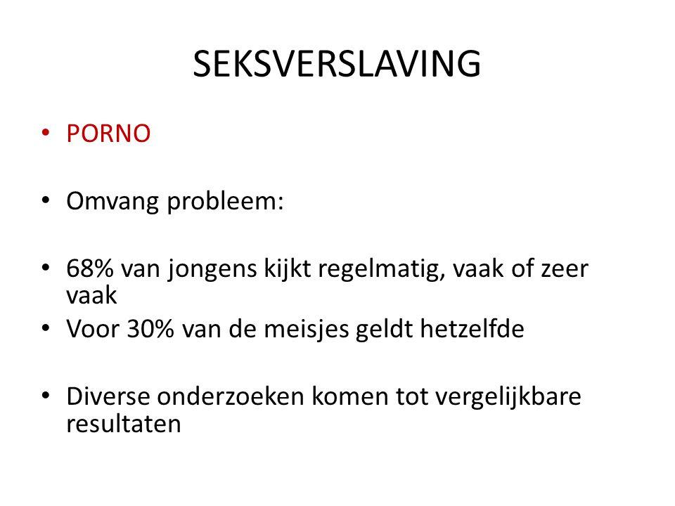 SEKSVERSLAVING PORNO Omvang probleem: