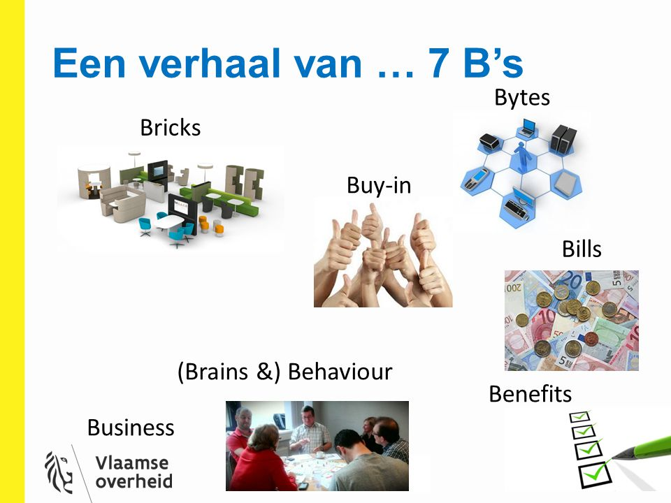 Een verhaal van … 7 B's Bytes Bricks Buy-in Bills (Brains &) Behaviour