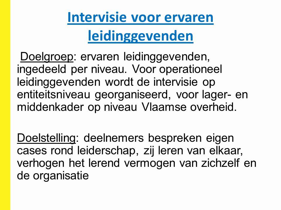 Intervisie voor ervaren leidinggevenden