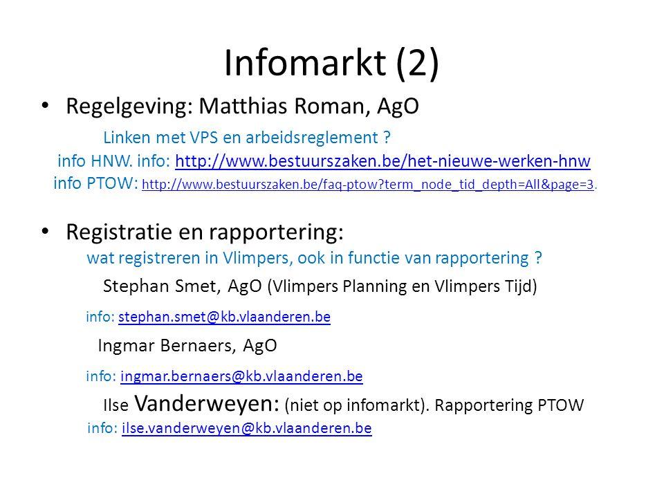 Infomarkt (2) Regelgeving: Matthias Roman, AgO