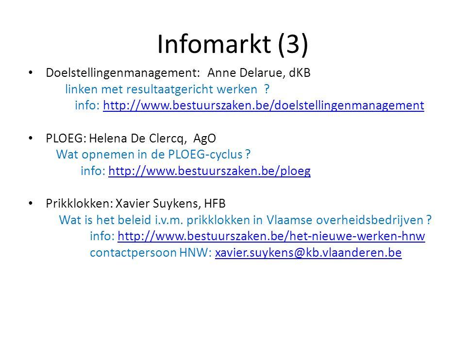 Infomarkt (3) Doelstellingenmanagement: Anne Delarue, dKB
