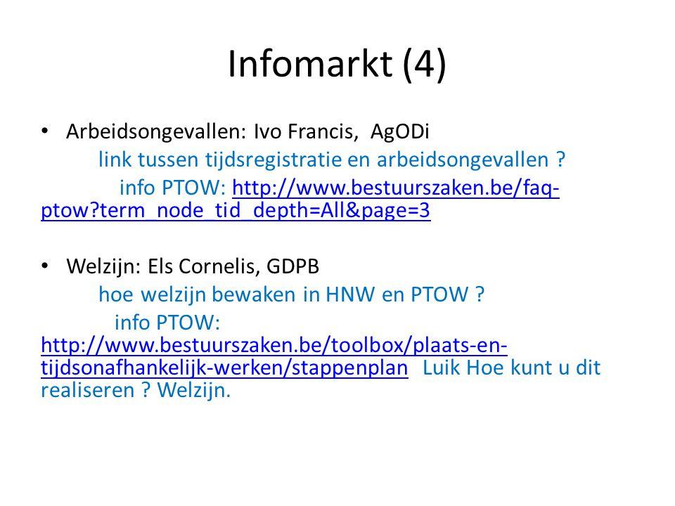 Infomarkt (4) Arbeidsongevallen: Ivo Francis, AgODi