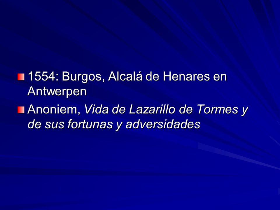 1554: Burgos, Alcalá de Henares en Antwerpen