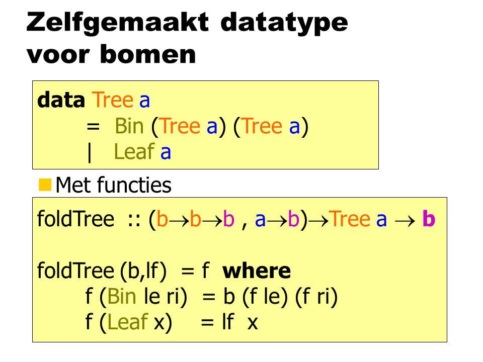Zelfgemaakt datatype voor bomen