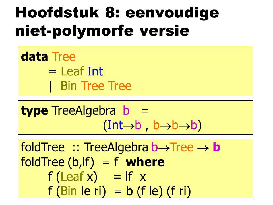 Hoofdstuk 8: eenvoudige niet-polymorfe versie