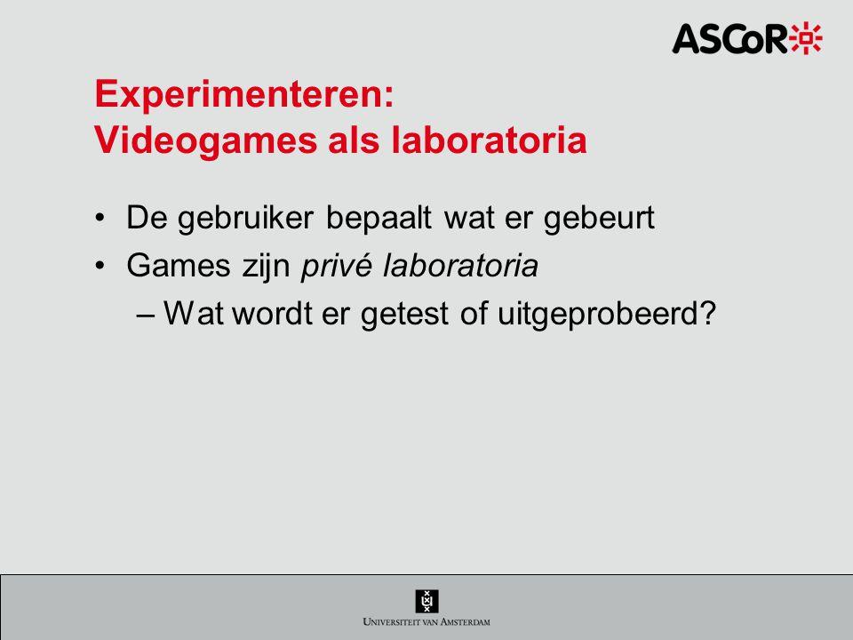 Experimenteren: Videogames als laboratoria