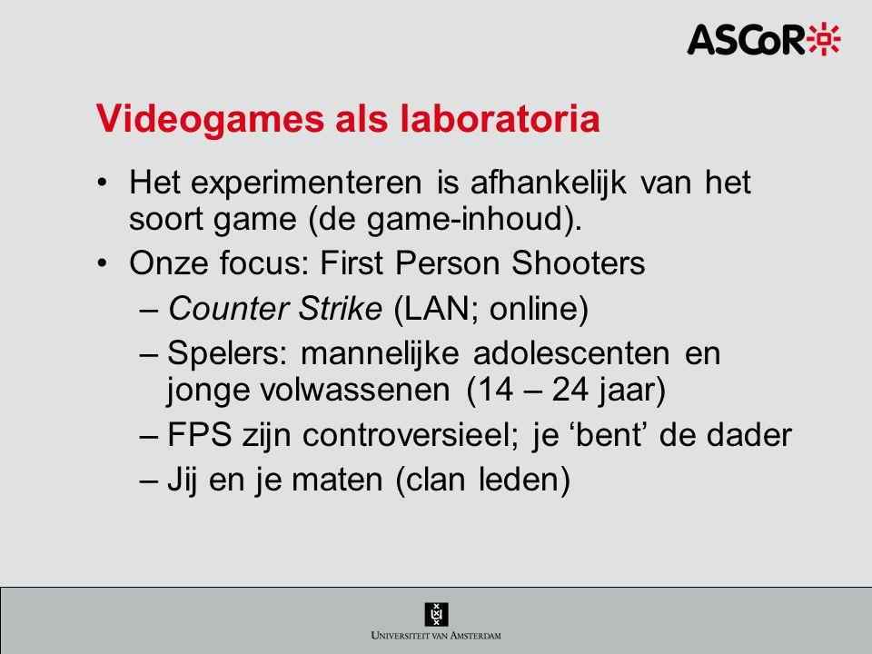 Videogames als laboratoria