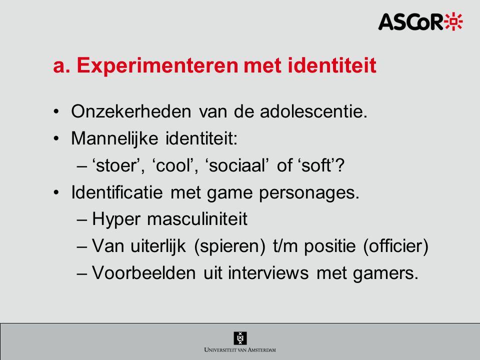 a. Experimenteren met identiteit