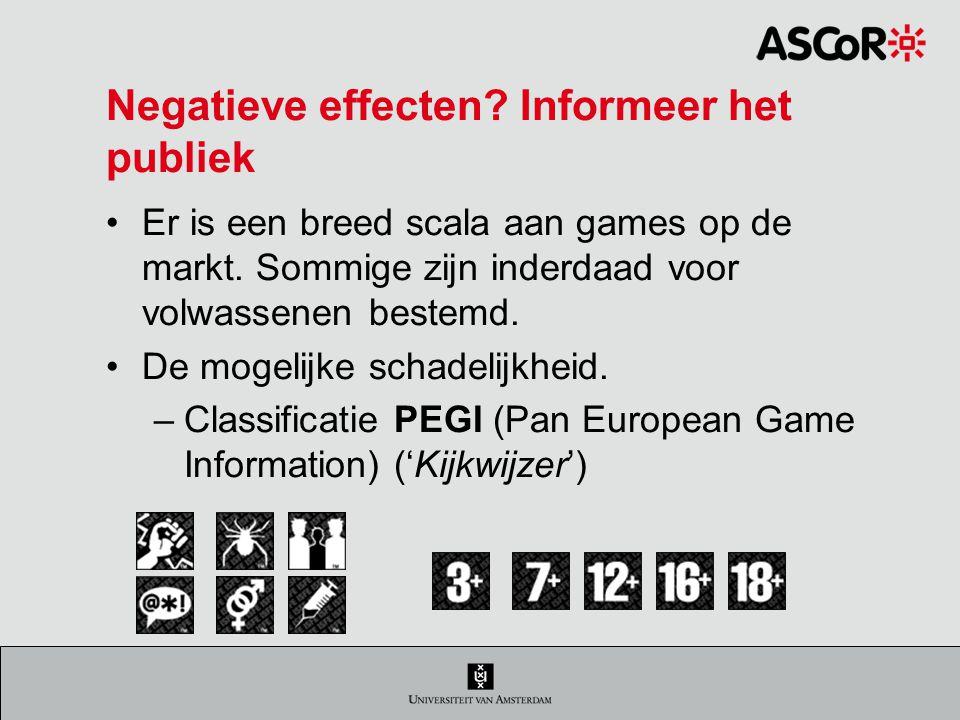 Negatieve effecten Informeer het publiek