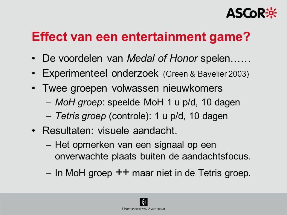 Effect van een entertainment game