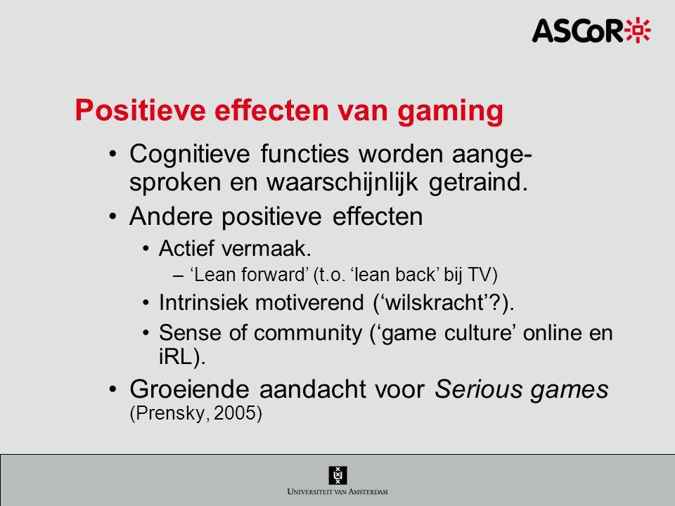 Positieve effecten van gaming