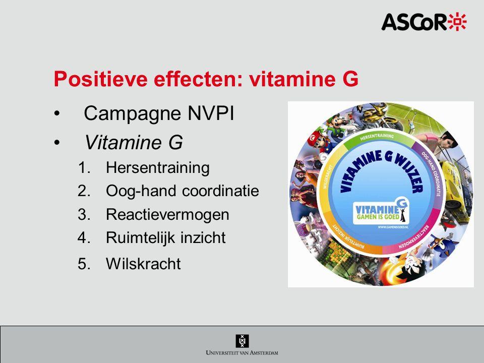 Positieve effecten: vitamine G