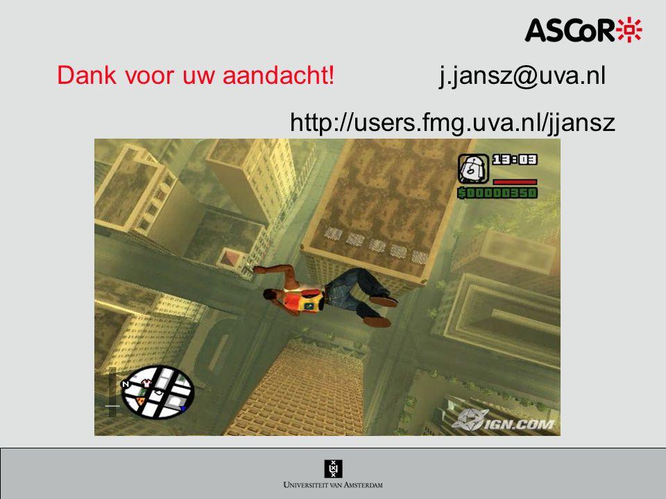 Dank voor uw aandacht! j.jansz@uva.nl