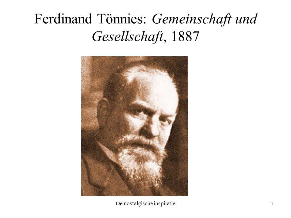 Ferdinand Tönnies: Gemeinschaft und Gesellschaft, 1887