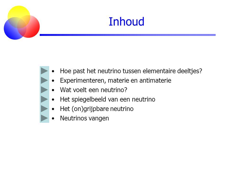 Inhoud Hoe past het neutrino tussen elementaire deeltjes