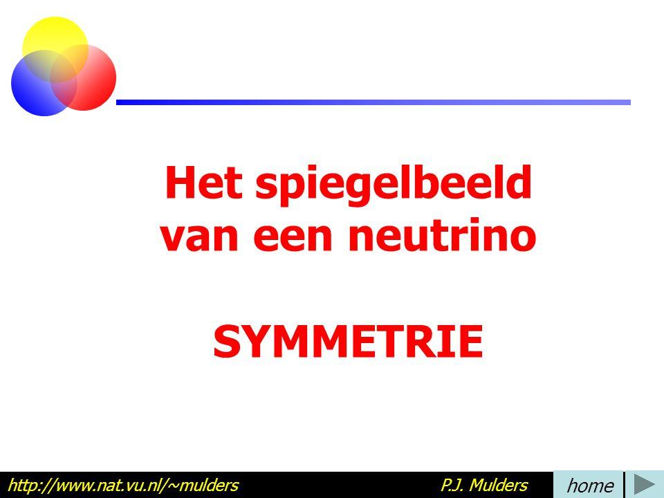 Het spiegelbeeld van een neutrino SYMMETRIE