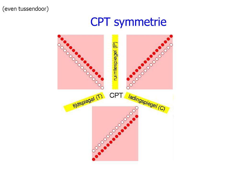 (even tussendoor) CPT symmetrie