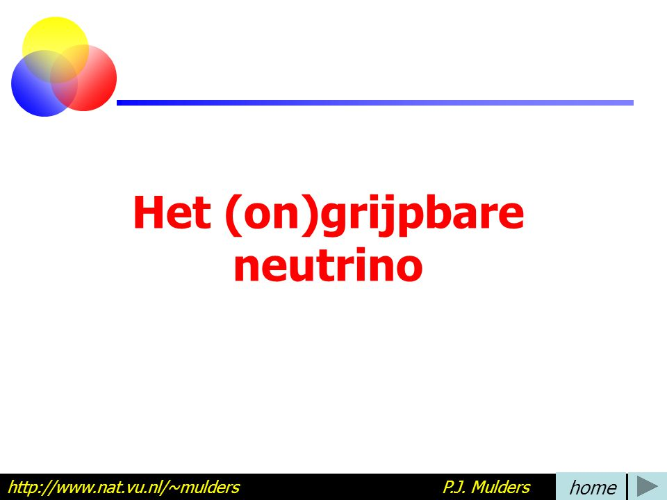 Het (on)grijpbare neutrino