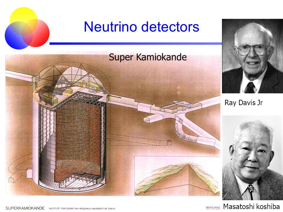 Neutrino detectors Super Kamiokande Ray Davis Jr Masatoshi koshiba