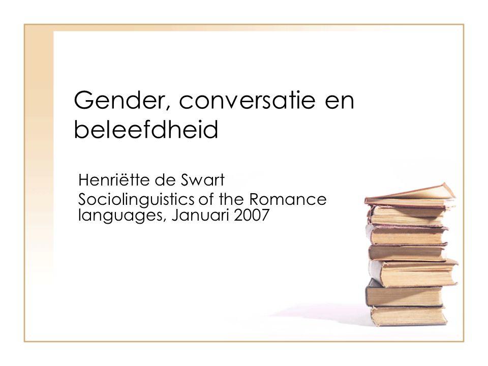Gender, conversatie en beleefdheid