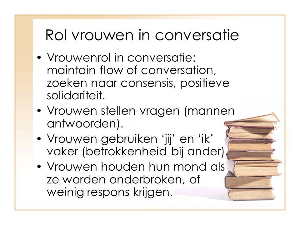 Rol vrouwen in conversatie