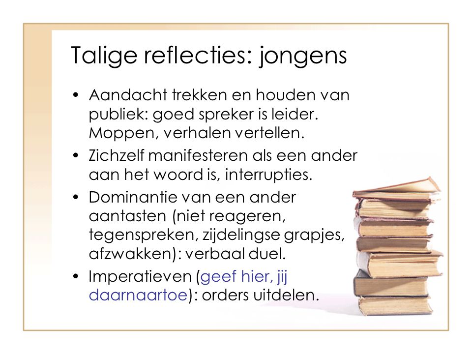 Talige reflecties: jongens