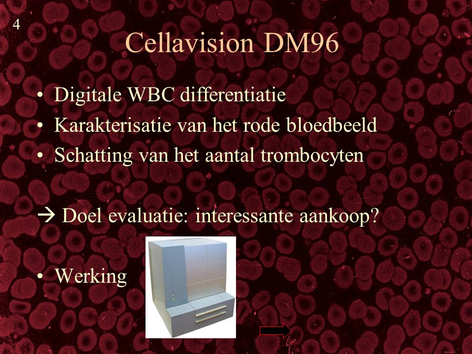 Cellavision DM96 Digitale WBC differentiatie