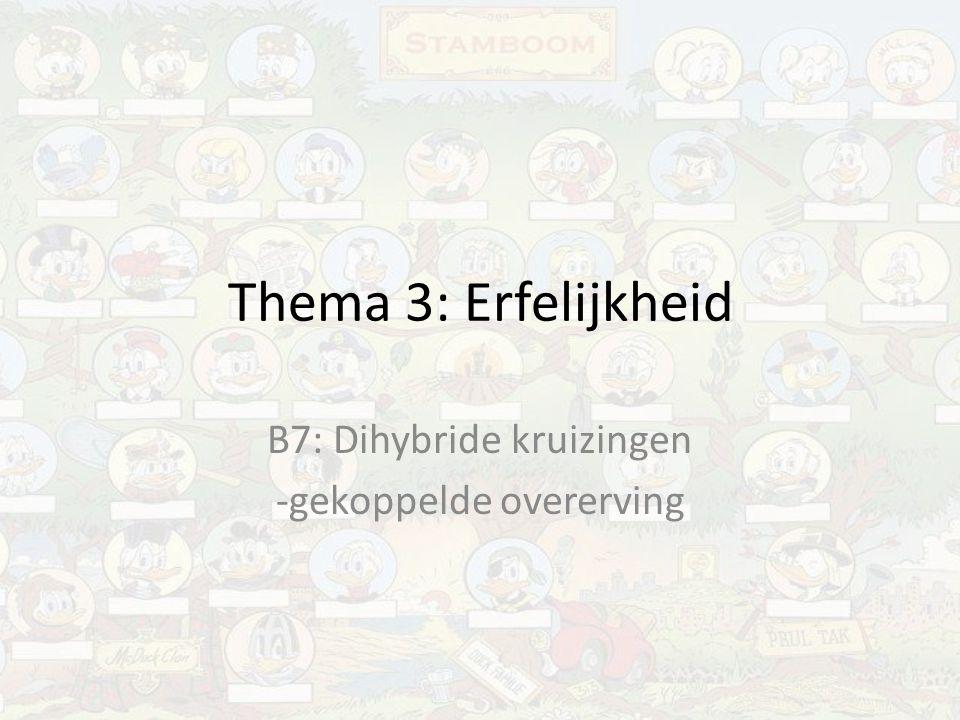B7: Dihybride kruizingen -gekoppelde overerving