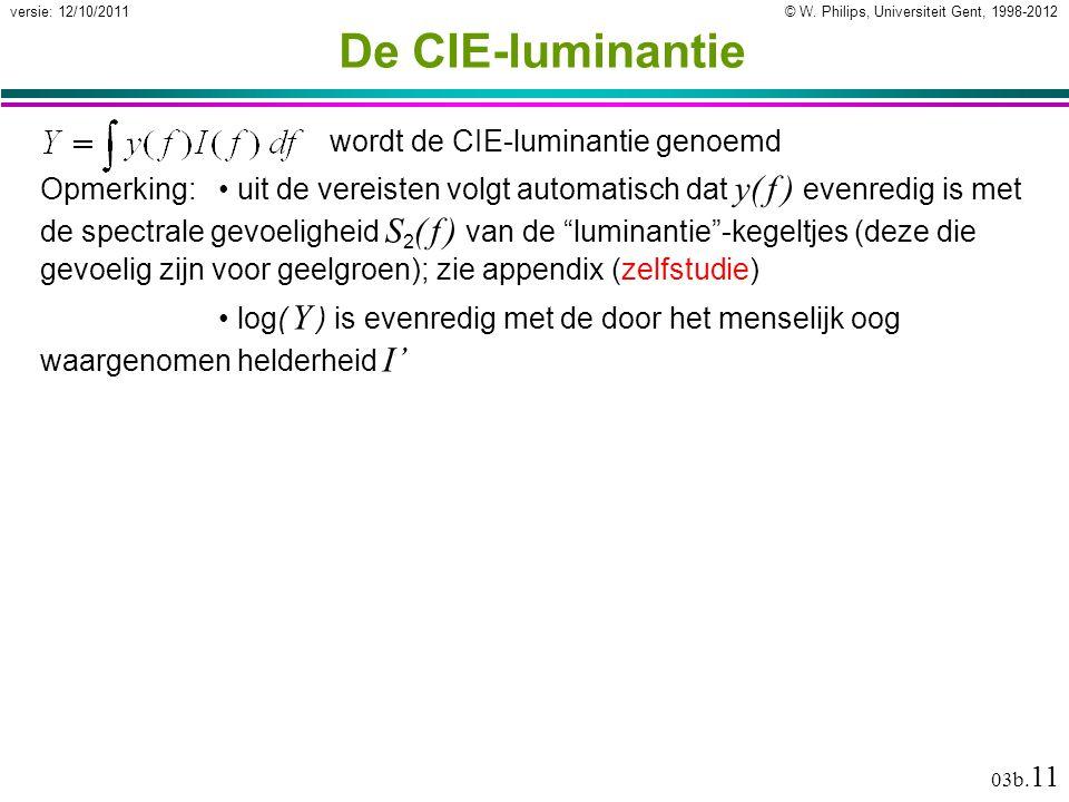 De CIE-luminantie wordt de CIE-luminantie genoemd