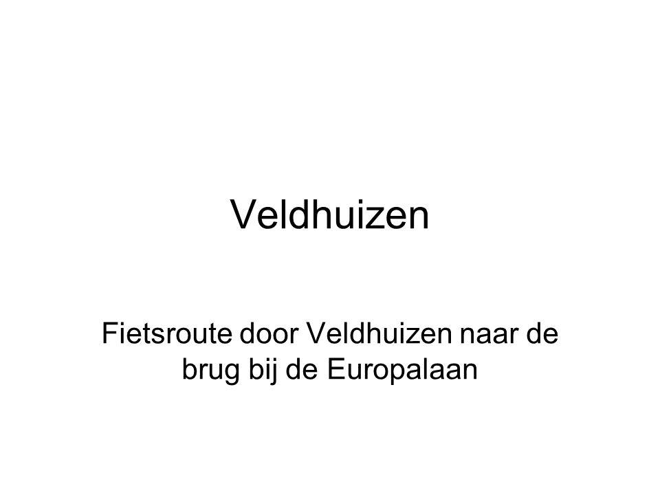 Fietsroute door Veldhuizen naar de brug bij de Europalaan