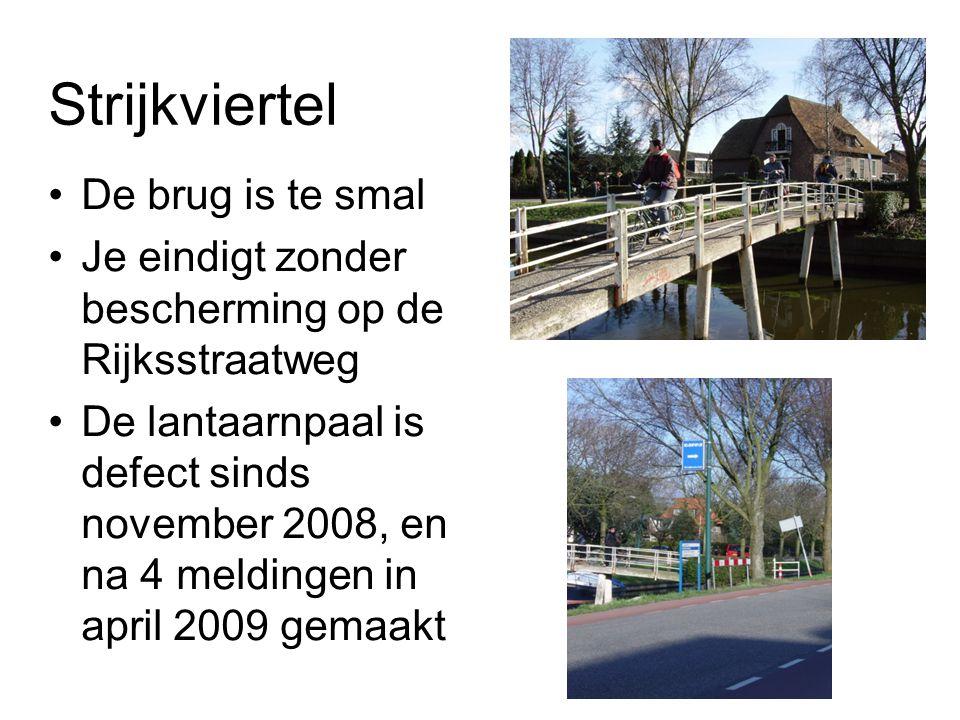 Strijkviertel De brug is te smal