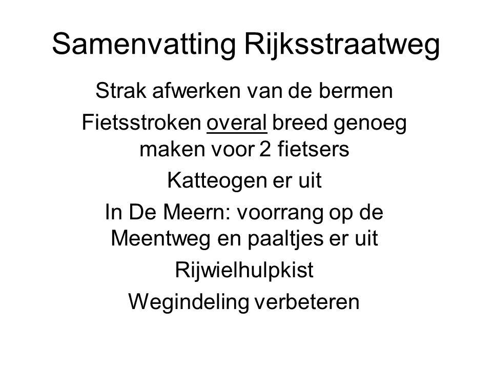 Samenvatting Rijksstraatweg