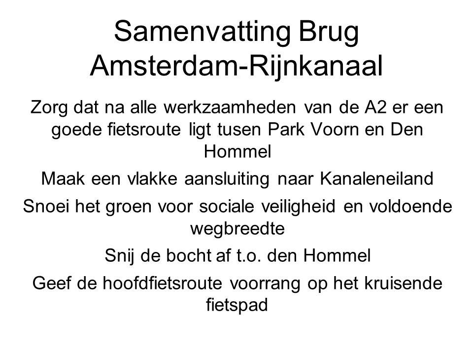 Samenvatting Brug Amsterdam-Rijnkanaal