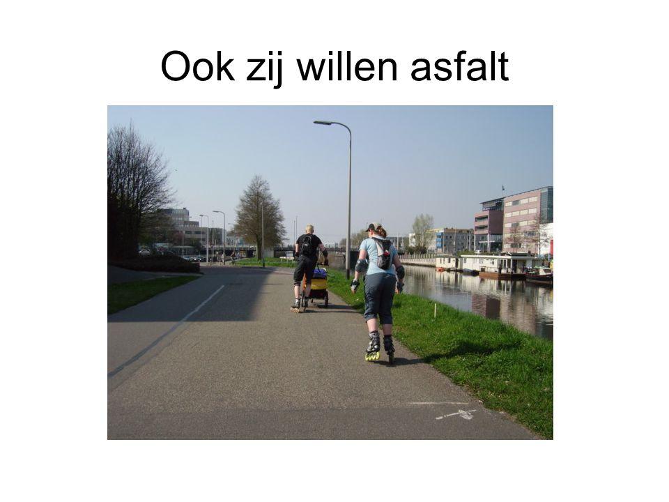 Ook zij willen asfalt
