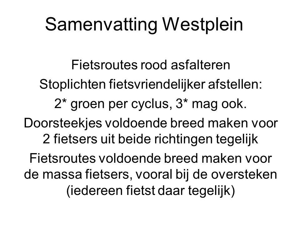 Samenvatting Westplein