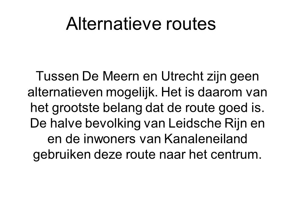 Alternatieve routes