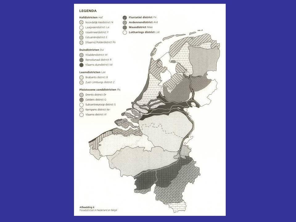 Afstemming tussen floradistricten in Nederland en België met hulp van Herman Stieperaere en Leo Vanhecke in België